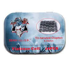 Pack 10 Tri-Twisted Clapton